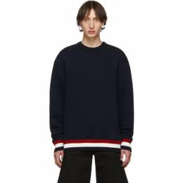 Thom Browne Navy Chunky Pullover Loopback Sweatshirt MJT184A-05401