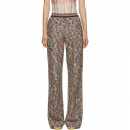Missoni Multicolor Zigzag Lounge Pants MDI00123 BR002M