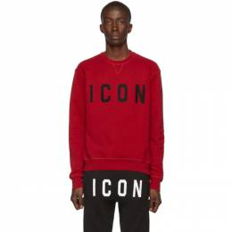 Dsquared2 Red Cool Fit Sweatshirt S74GU0352 S25042