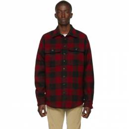 Dsquared2 Red and Black Check Military Shirt S74DM0290 S44496
