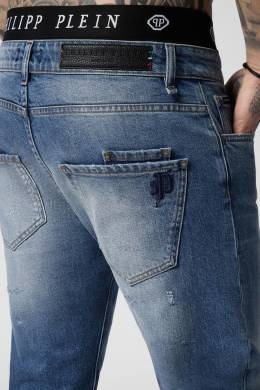 Голубые джинсы с логотипом Philipp Plein 1795139051