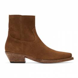 Saint Laurent Brown Suede Lukas Boots 530824BPN00