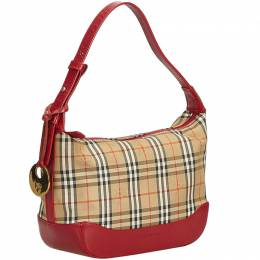 Burberry Brown Plaid Jacquard Everyday Bag 186066