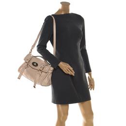 Mulberry Beige Leather Alexa Shoulder Bag 206436