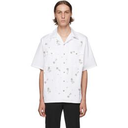 Prada White Crystal Bowling Shirt UCS340 1UZ7