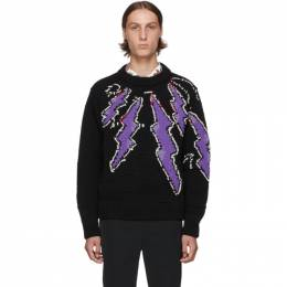 Prada Black Hand-Knit Runway Sweater 192962M20101602GB