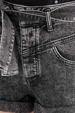 Серые джинсовые шорты с поясом Maje 888139080