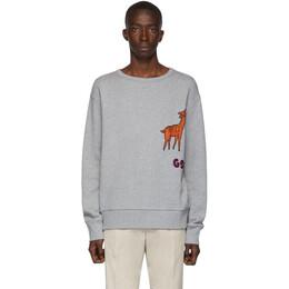 Gucci Grey Mr. Peanut Sweatshirt 192451M20400706GB