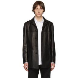Neil Barrett Black Leather Jacket BPE607 M702