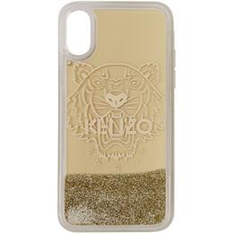 Kenzo Gold Tiger iPhone X Case F95COKIFXTIL