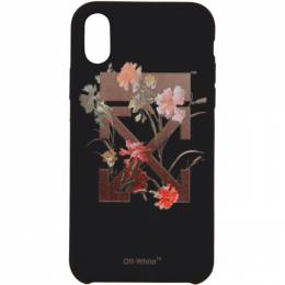 Off-White Black Flowers iPhone X Case OWPA009E19F140661024