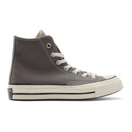 Converse Grey Chuck 70 High Sneakers 192799M23601513GB