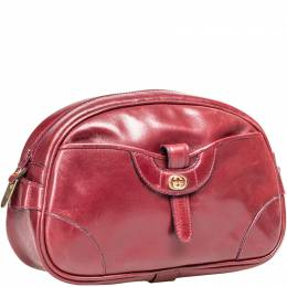 Gucci Red Vintage Leather Clutch Bag 199022