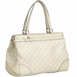 Gucci Ivory Guccissima Leather Mayfair Tote 197992