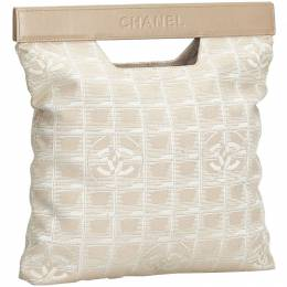 Chanel White/Beige New Travel Line Nylon and Leather Everyday Bag 198020