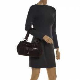 Bvlgari Dark Brown Signature Fabric and Leather Shoulder Bag