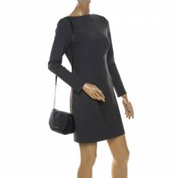 MICHAEL Michael Kors Black Leather Bedford Crossbody Bag