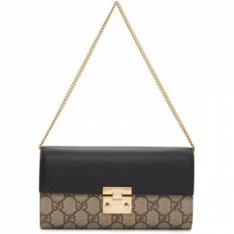 Gucci Beige and Black Padlock GG Wallet Bag 191451F04813401GB
