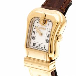 Fendi White Mother of Pearl Gold Plated Stainless Steel B.Fendi 3800L Women's Wristwatch 23 mm 207222