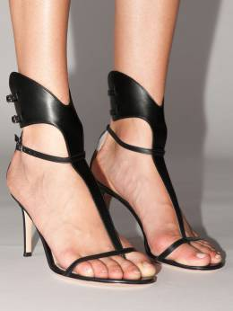 105mm Lvr Exclusive Leather Sandals Gianvito Rossi 70IXD8002-QkxBQ0s1