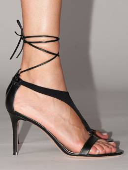 105mm Lvr Exclusive Leather Sandals Gianvito Rossi 70IXD8001-QkxBQ0s1