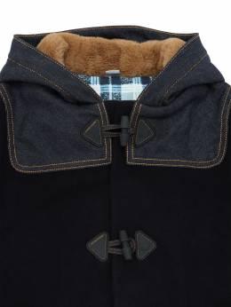 Hooded Wool Blend Coat Jacob Cohen 70IX9V005-ODcw0