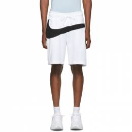 Nike White and Black Swoosh Shorts AR3161