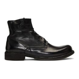 Officine Creative Black Ikon Boots IKON 018