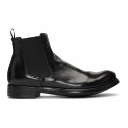 Officine Creative Black Hive 007 Chelsea Boots HIVE 007 IGNIS T