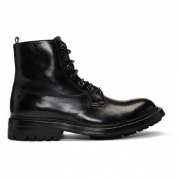 Officine Creative Black Exeter 4 Boots EXETER 004 TONE