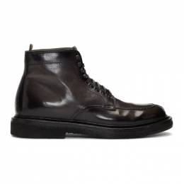 Officine Creative Grey Stanford 207 Boots STANFORD 207 AERO CAN