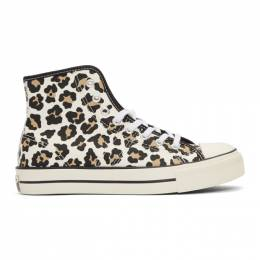 Converse Off-White Lucky Star Hi Leopard Print Sneakers 165025C