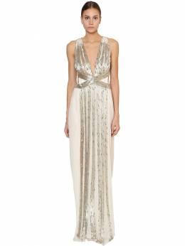 Платье Из Шелкового Шифона Alberta Ferretti 70IM5B012-MDAwMg2