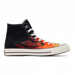 Converse Black Chuck 70 Archive Print High Sneakers 165024C