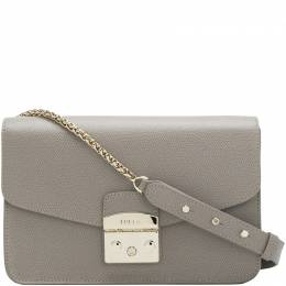 Furla Sabbia Textured Leather Small Metropolis Shoulder Bag