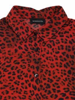 Вискозная Рубашка С Принтом Monnalisa 70IFIC072-MDA0Mw2