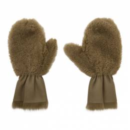 Yves Salomon Tan Merinillo and Toscana Shearling Mittens 20W20WAA306XXMRTO