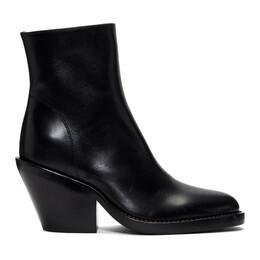 Ann Demeulemeester Black Slashed Heel Boots 192378F11301402GB