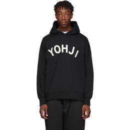 Y-3 Black Yohji Letters Hoodie 192138M20200304GB