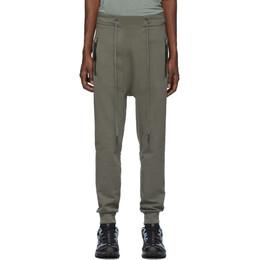 11 By Boris Bidjan Saberi Grey Drawstring Lounge Pants P13 F-1235