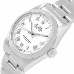 Rolex White Stainless Steel Datejust 68240 Midsize Women's Wristwatch 31MM 207501