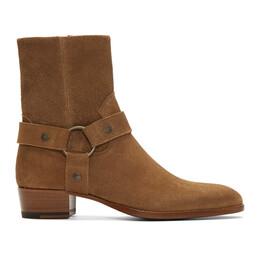 Saint Laurent Brown Suede Wyatt Boots 443190BPN00