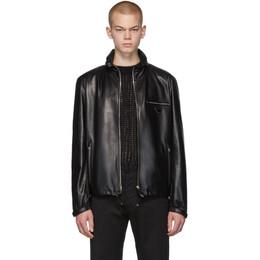 Prada Black Leather Triangle Jacket 192962M18100204GB