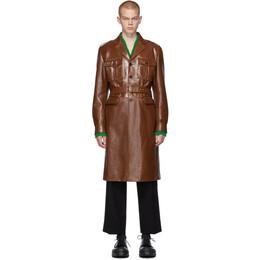 Prada Brown Leather Long Jacket 192962M18100805GB