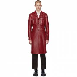 Prada Red Leather Long Jacket 192962M18100705GB