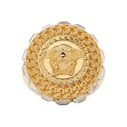 Versace Gold Crystal Medusa Ring 192404M14701202GB