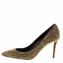 Enio Silla For Le Silla Crystal Embellished Pointed Toe Pumps Size 38.5 169970