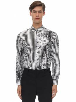 Рубашка Из Хлопка Поплин С Принтом Neil Barrett 70ILBI008-MjIzOA2