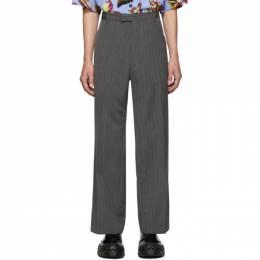 Prada Grey Mohair Classic Trousers UP0065 1EF4