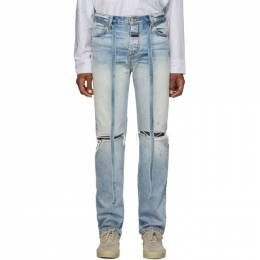Fear Of God Blue Relaxed Jeans C000-5005HWD